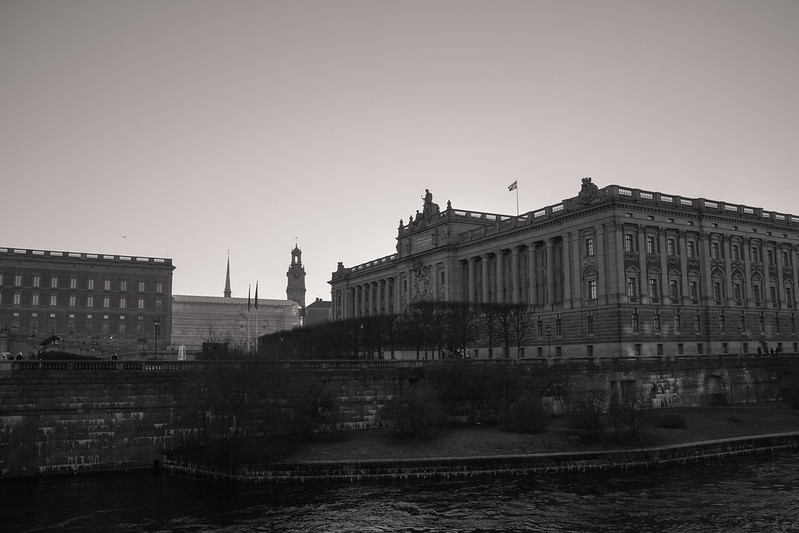 Stockholm in black and white