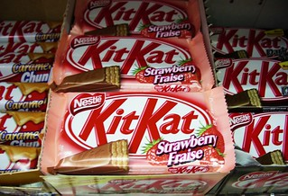 Strawberry, Caramel and Dark Chocolate KitKats | by selva