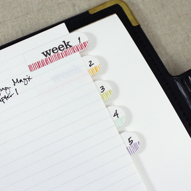 Weekly Reading Tabs