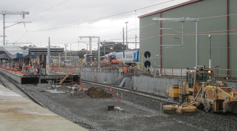 Bayswater level crossing removal: looking NW towards new station