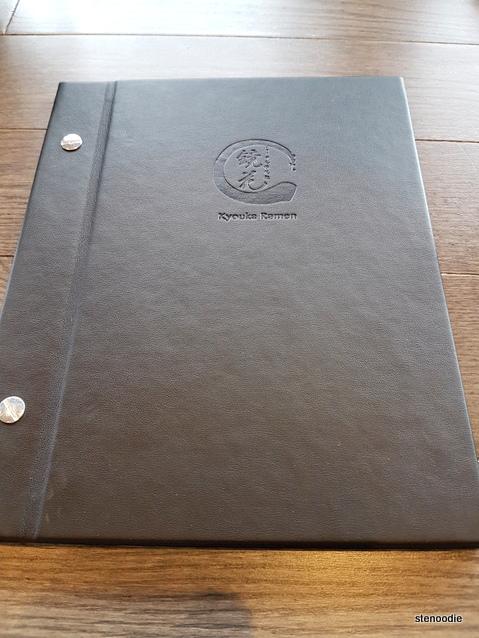 Kyouka Ramen menu cover