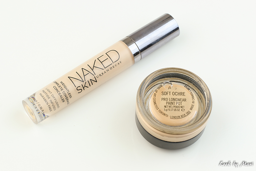 4 Urban Decay naked skin concealer fair neutral mac lonwear paint pot soft ochre review kokemuksia