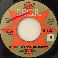 JIMMY SOUL:IF YOU WANNA BE HAPPY(LABEL SIDE-A)