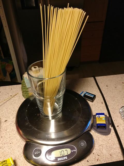pasta pesto voor één persoon