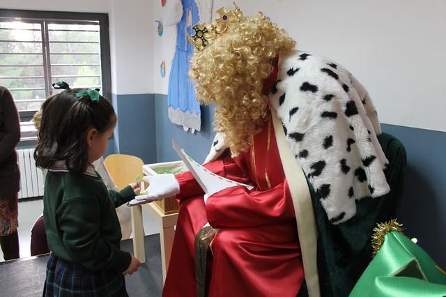 El Rey Gaspar visita el colegio