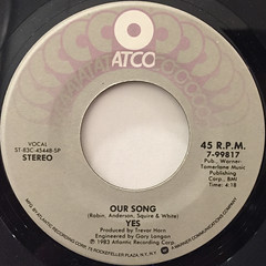 YES:OWNER OF A LONELY HEART(LABEL SIDE-B)