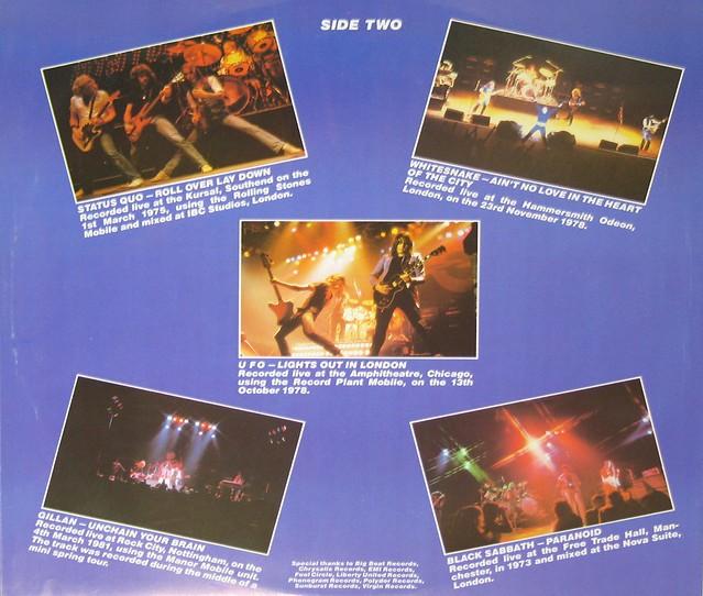 "Live and Heavy Deep Purple Motorhead 12"" vinyl LP"