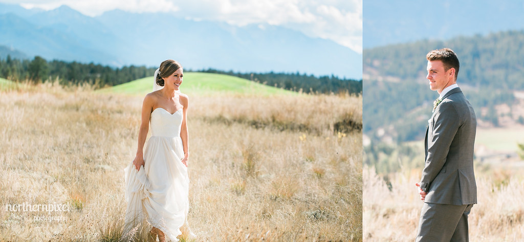 First Look Session - Invermere BC Wedding