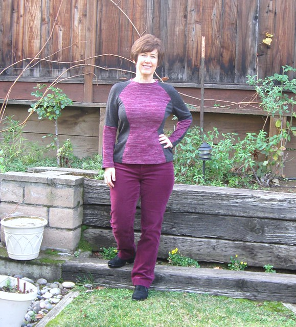 color block knit top on