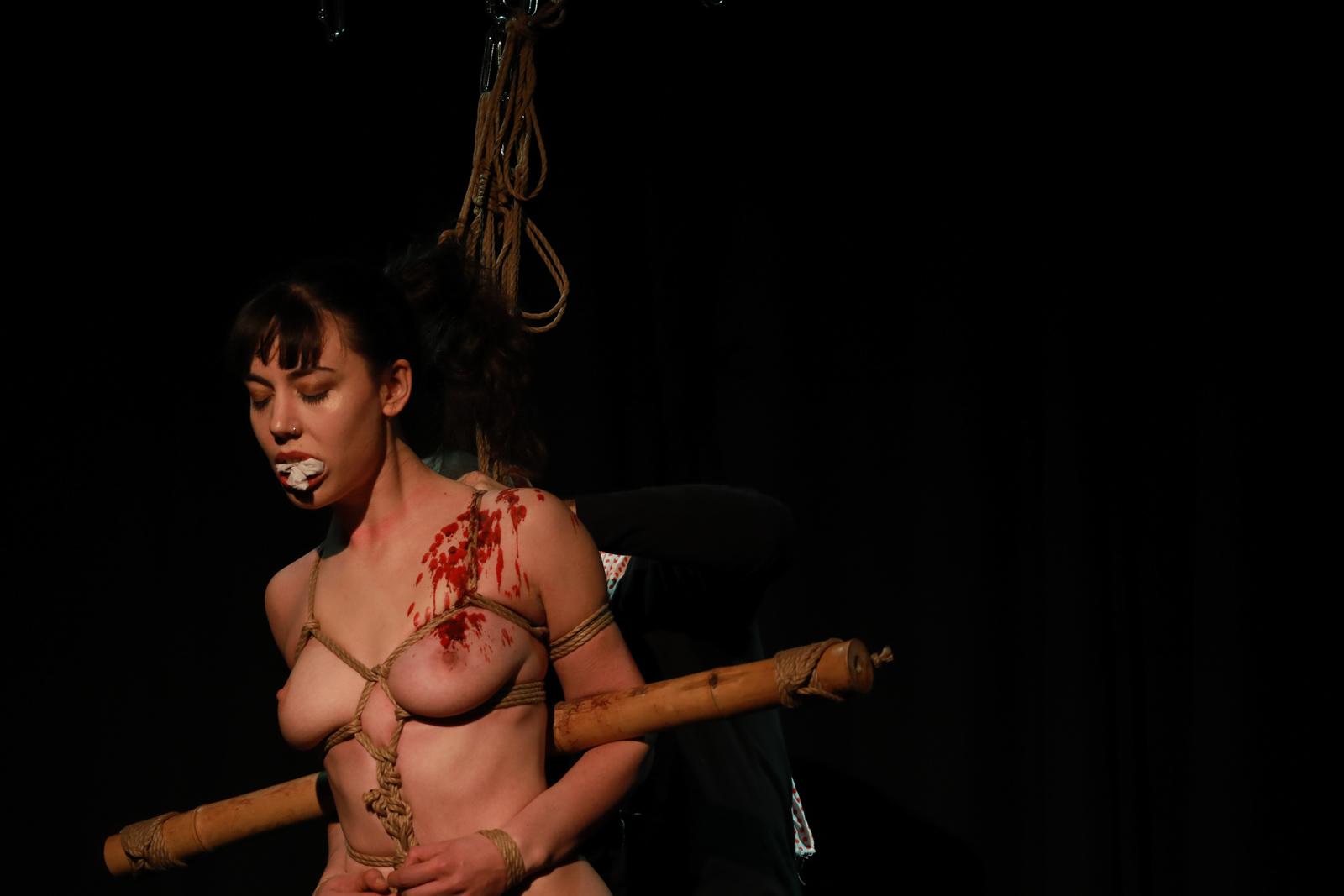 Shibari performance by Pedro and Gestalta at The Soap Box, London, December 2016
