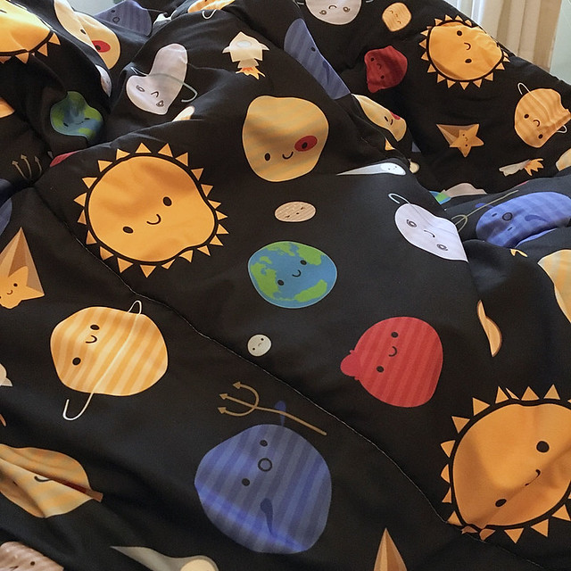 Solar System comforter from Society6