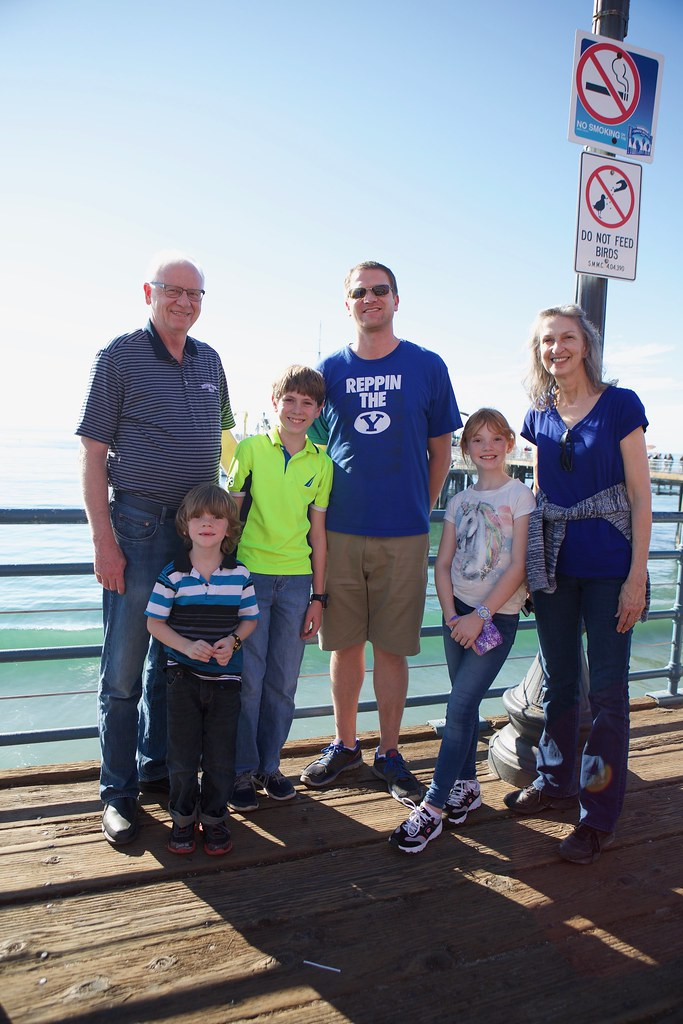Family on Santa Monica Pier