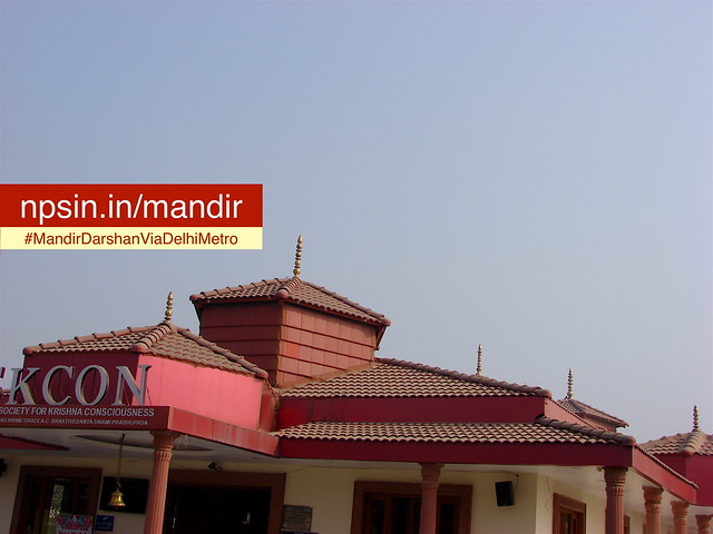 ISKCON is situated in newly constructed peaceful area of Dwarka Sector 13