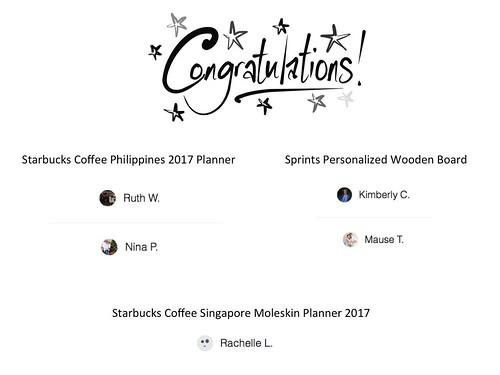 2016 contest winners