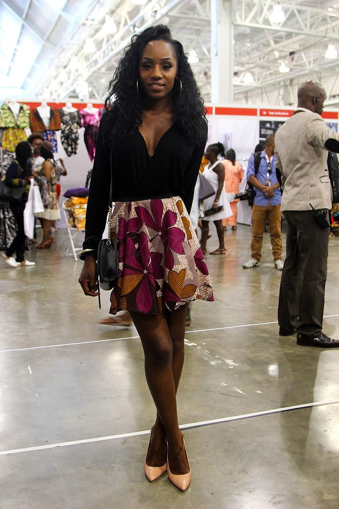 kitenge-skirt-with-a-black-plunging-neckline-top