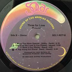 SHALAMAR:THREE FOR LOVE(LABEL SIDE-B)