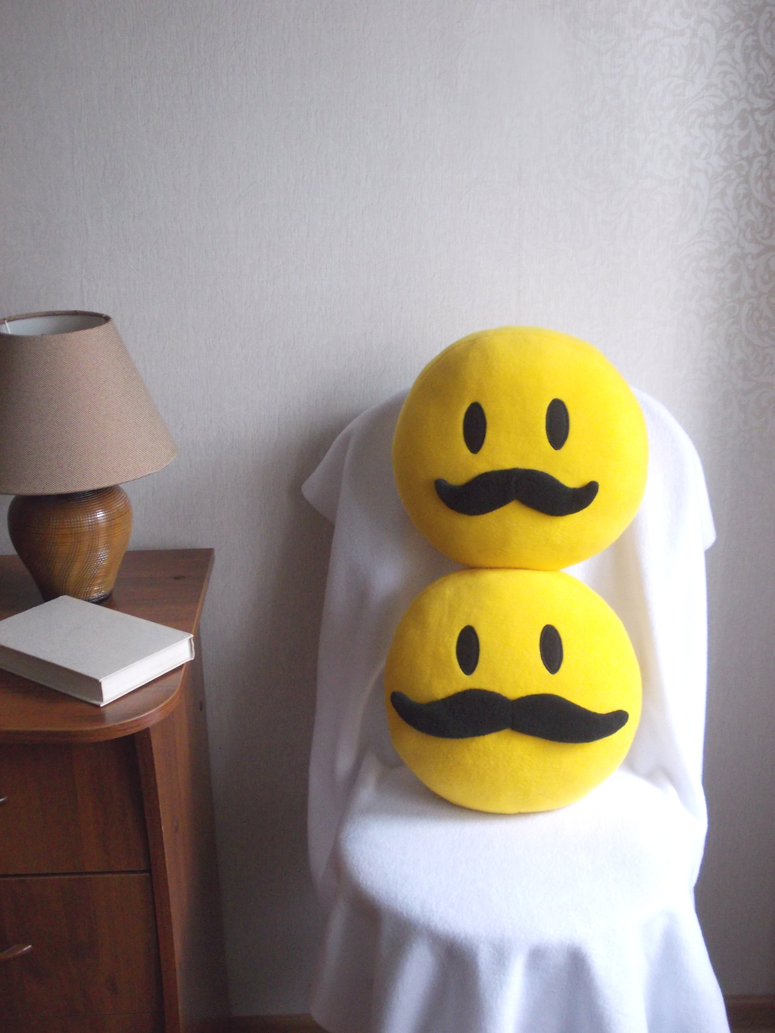 Mustache, mustache pillow, mustache smiley face, mustache smiley 23