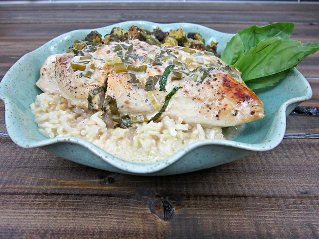 Chicken Basil Wine Sauce