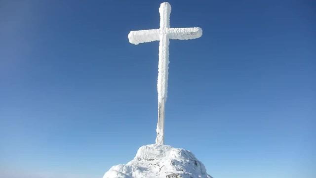 Auf dem Gipfel des Großen Arber