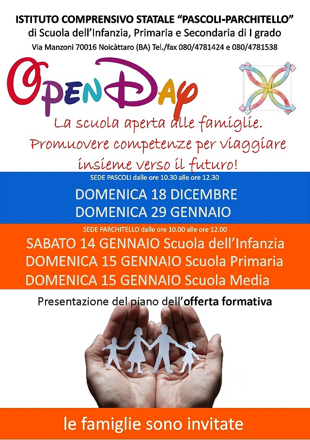 Noicattaro. Open Day scuola Pascoli-Parchitello intero