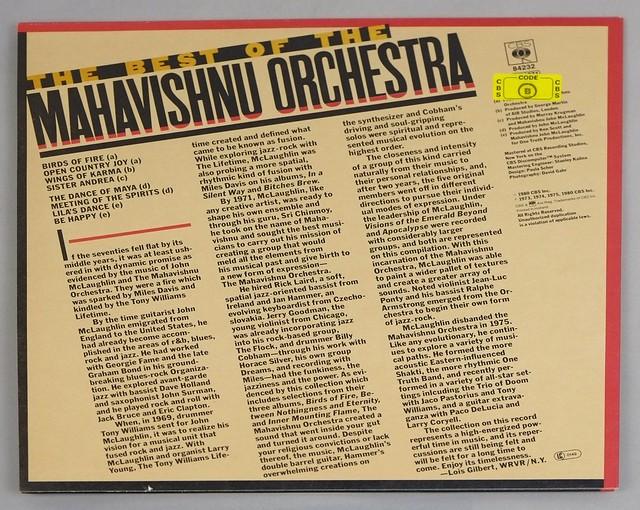 "MAHAVISHNU ORCHESTRA - BEST OF MAHAVISHNU ORCHESTRA 12"" LP VINYL"