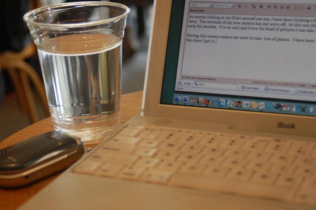 Water, Laptop, Phone