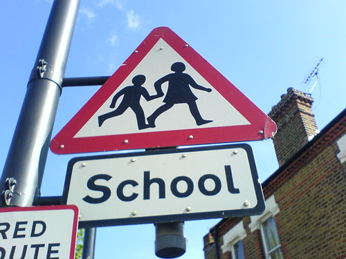 School - Road signs on my way to work | by Gaetan Lee