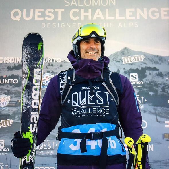 Jorge Fernández en la Salomon Quest Challenge 2016