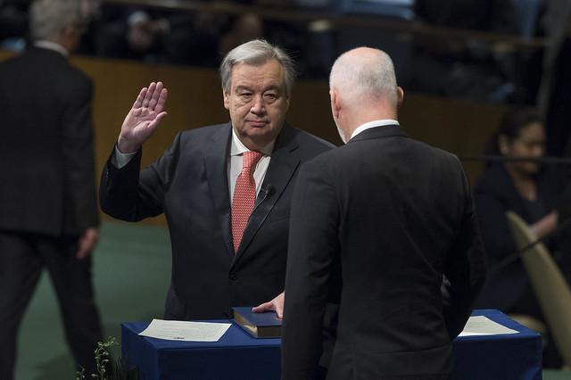 Ceremonia de invertidura de António Guterres