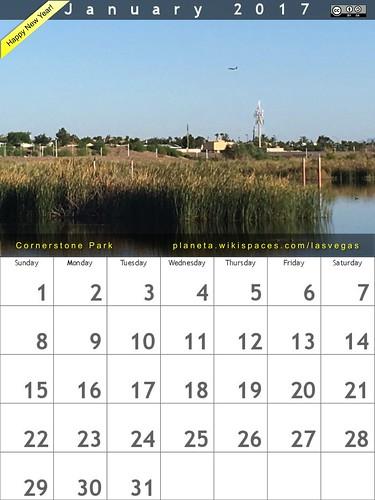January 2017 Calendar @ Cornerstone Park (Henderson/Las Vegas, Nevada) @ronmader