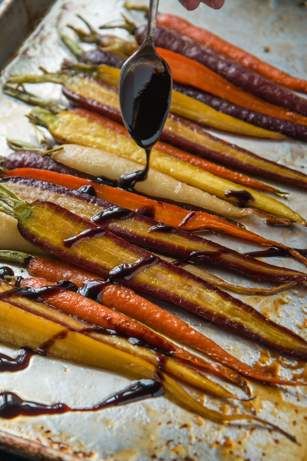 Roasted Maple Pomegranate Glazed Carrots | Will Cook For Friends
