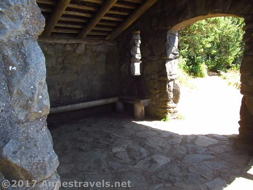 Inside the Stone Shelter at Cape Perpetua, Oregon