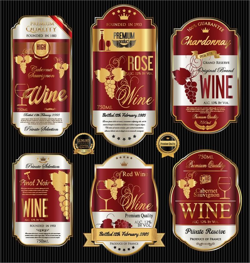 Wine luxury labels