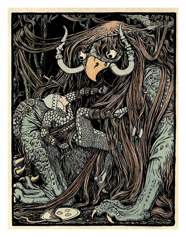 009- El demonio del pelo enmarañado-Cuentos de hadas indios-1892- John Batten