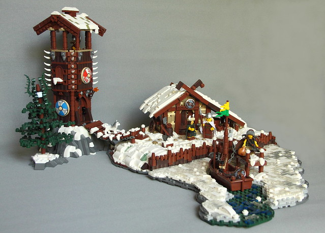 Lakeside Viking Lodge In The Snow The Brothers Brick