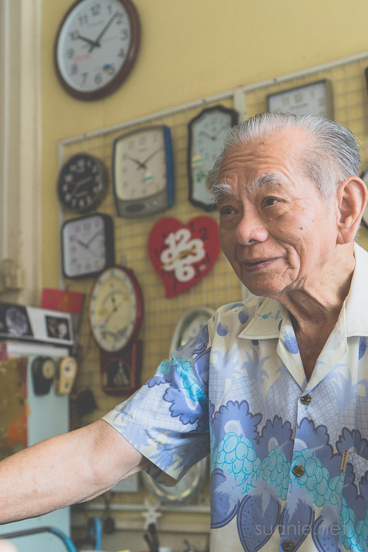 Sungai Lembing watch shop - owner Mr Yap