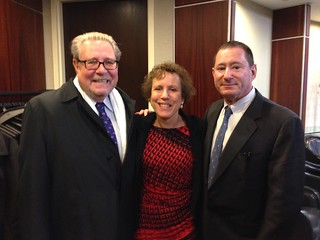Ken Raske, President of the Greater New York Hospital Association, Amy Allen, WCA, and Guy Liebler, Chairman of the WCA Healthcare Advisory Board