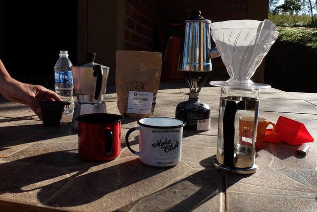 Café na varanda do chalé