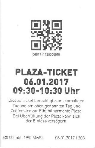 Eintrittskarte Plaza