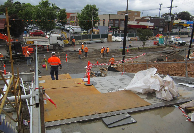 Bayswater level crossing removal: view from station concourse exit