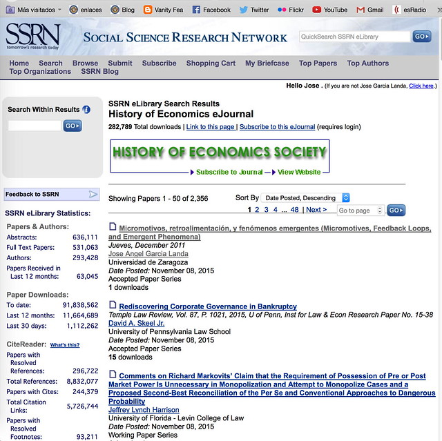 SSRN History of Economics eJournal
