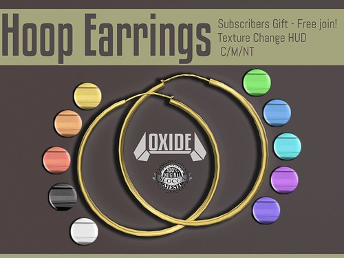 OXIDE Hoop Earrings [Subscribo Gift]