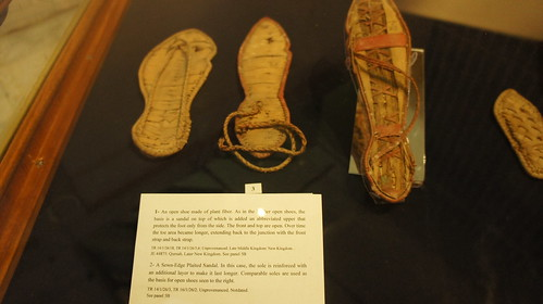 Ancient Egypt Plain fiber open shoes and sandal