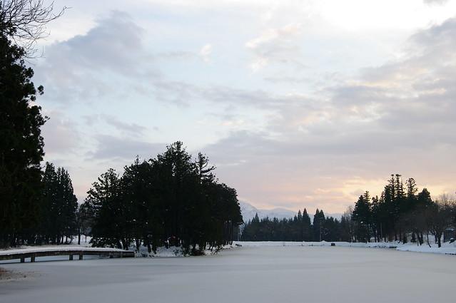お松の池 夕景_2016-12