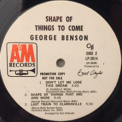 GEORGE BENSON:SHAPE OF THINGS TO COME(LABEL SIDE-B)