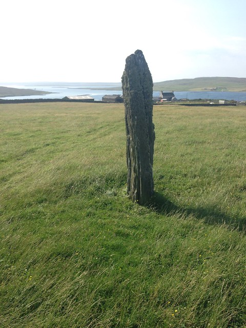 Single stone on Shetland