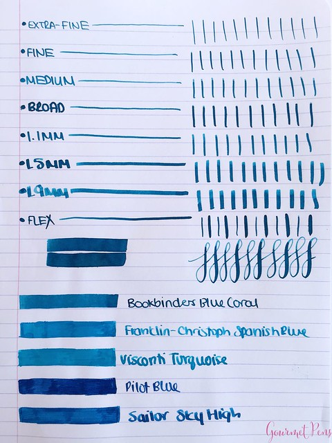 Ink Shot Review Bookbinders Blue Coral @AndersonPens 2