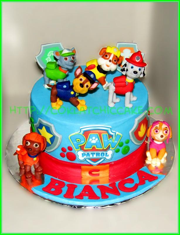 Cake Paw Patrol Bianca Jual Kue Ulang Tahun