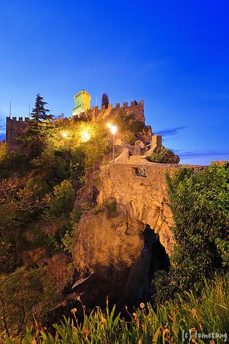Monte Titano at night