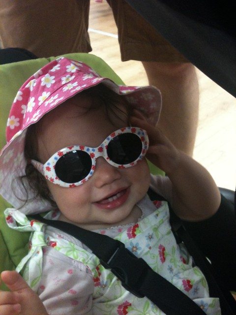 To have a safe summer in Italy with baby, make sure you have sun hat and sunglasses for them